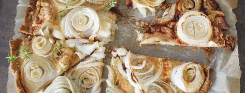 Sweet Onion Tart - a savory side dish with French flair 1