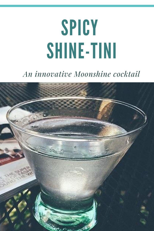 Spicy Shine Tini Moonshine Cocktail recipe