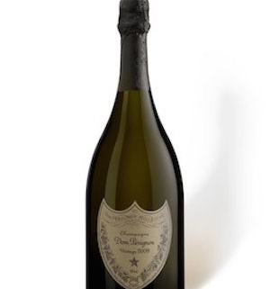 Bottle shot of 2009 Dom Perignon, an aged Champagne
