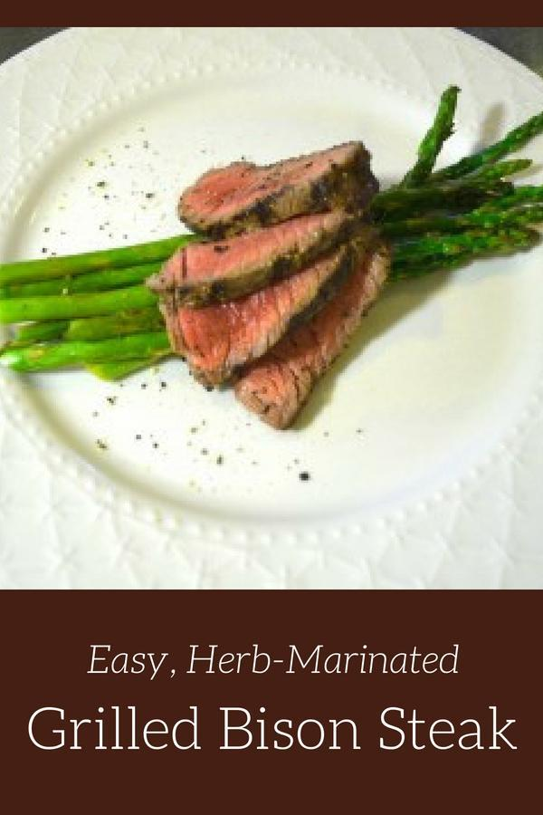 Easy, Herb-Marinated, Grilled Bison Steak