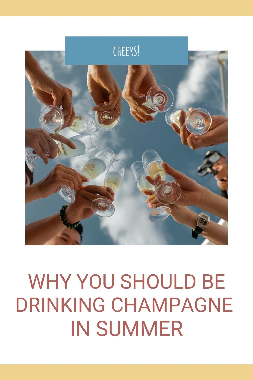 Why you should be drinking champagne in summer graphic
