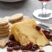 White Cheddar with Wine-Soaked Cherries & Herbs