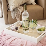 A Friendsgiving Cocktail with Ketel One Botanical Cucumber & Mint