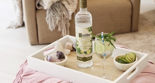 A Friendsgiving Cocktail with Ketel One Botanicals Cucumber & Mint