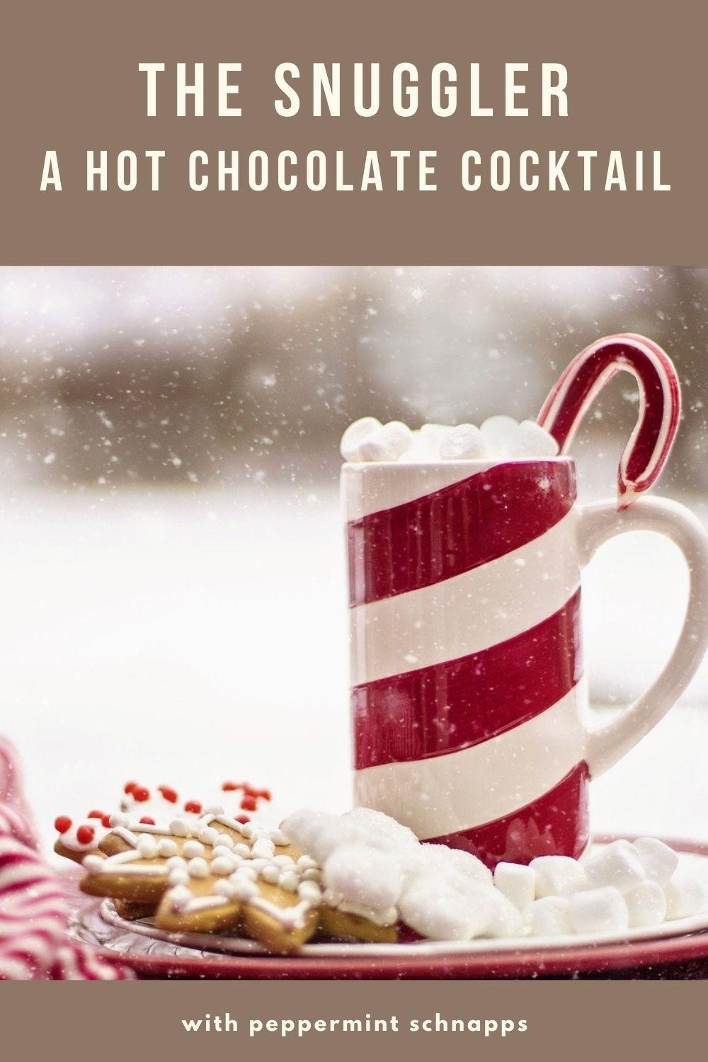 The Snuggler hot chocolate cocktail graphic