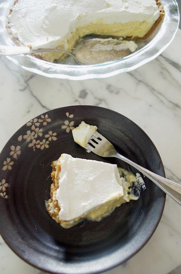 Key Lime Pie with a Salty Macadamia-Graham Cracker Crust