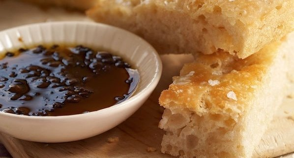Homemade Focaccia with Coffee-Pepper Dipping Oil 2