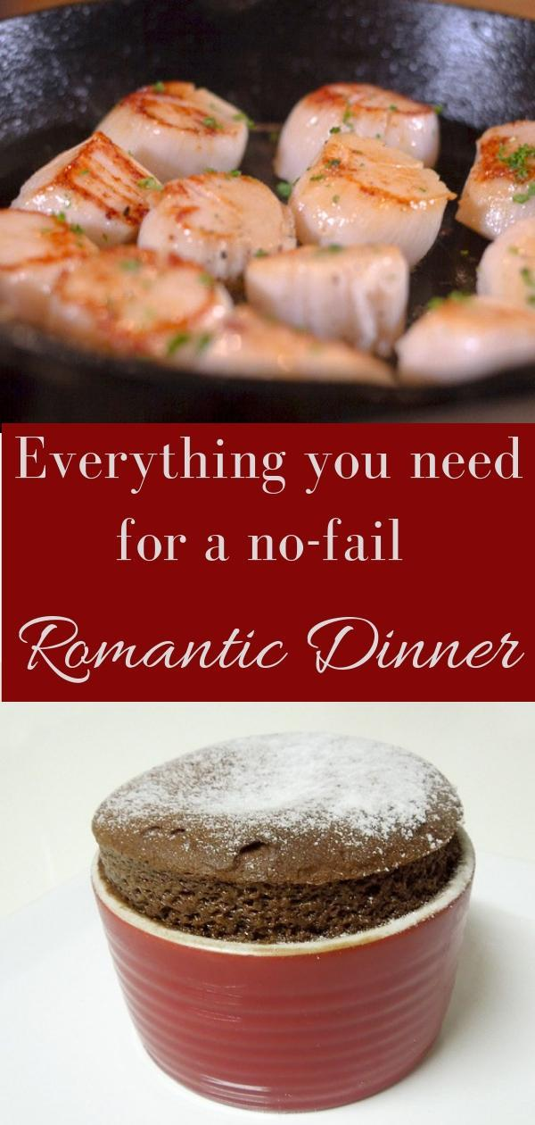 Menu for an unforgettable romantic dinner