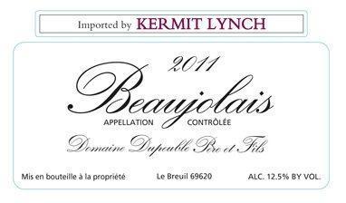 Domaine Dupeuble Beaujolais label shot