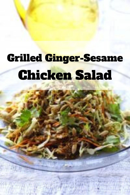 Grilled Ginger-Sesame Chicken Salad