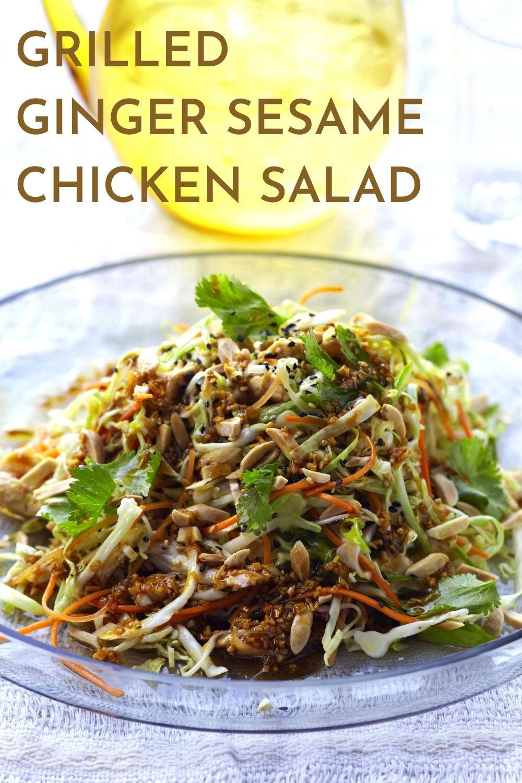 grilled ginger sesame chicken salad recipe
