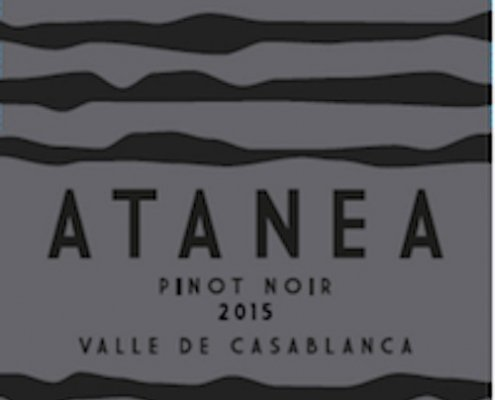 atanea pinot noir closeup of label