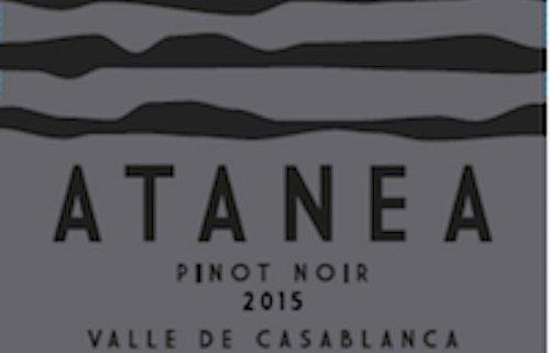 atanea pinot noir closeup of label