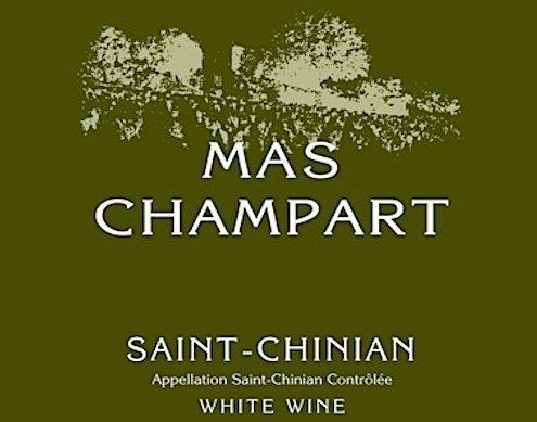 Mas Champart Blanc Label