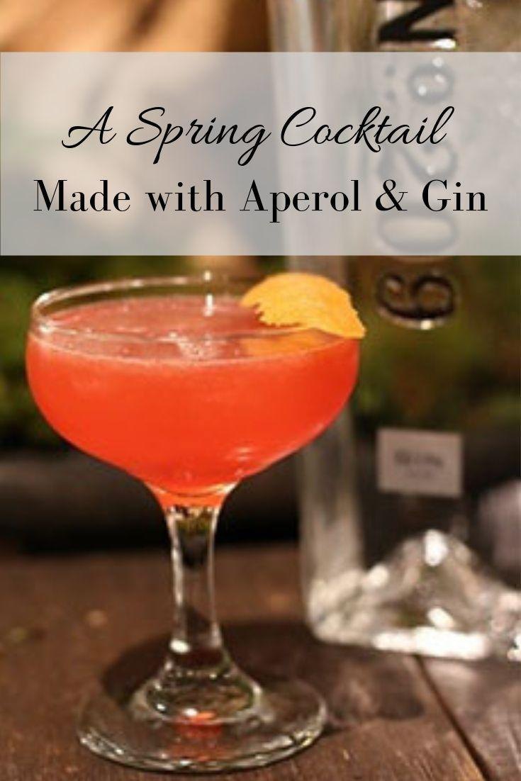 Pinnable Grapic of this Spring Cocktail