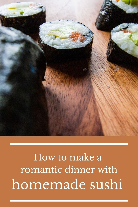 homemade sushi menu graphic