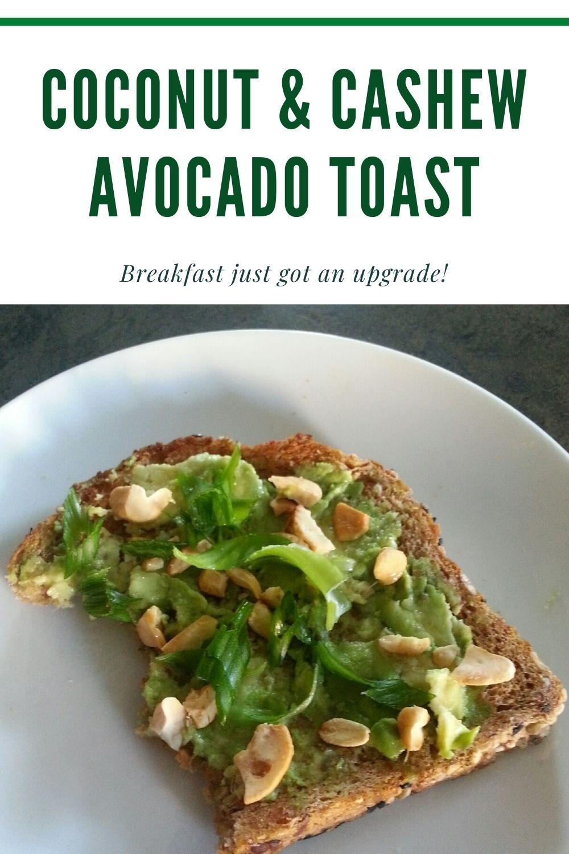 recipe for avocado toast graphic