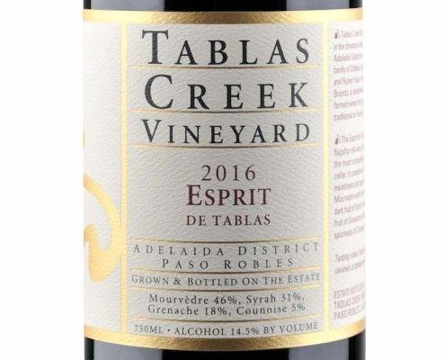 Label shot of Tablas Creek Esprit de Tablas