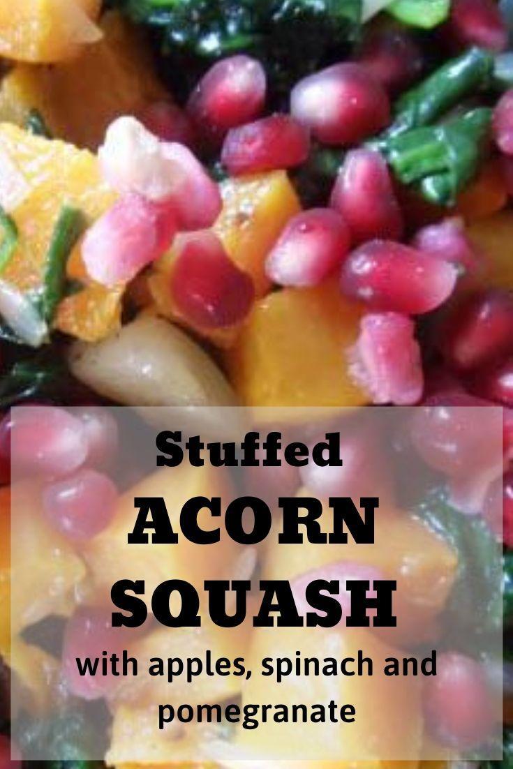 Stuffed Acorn Squash pinnable graphic