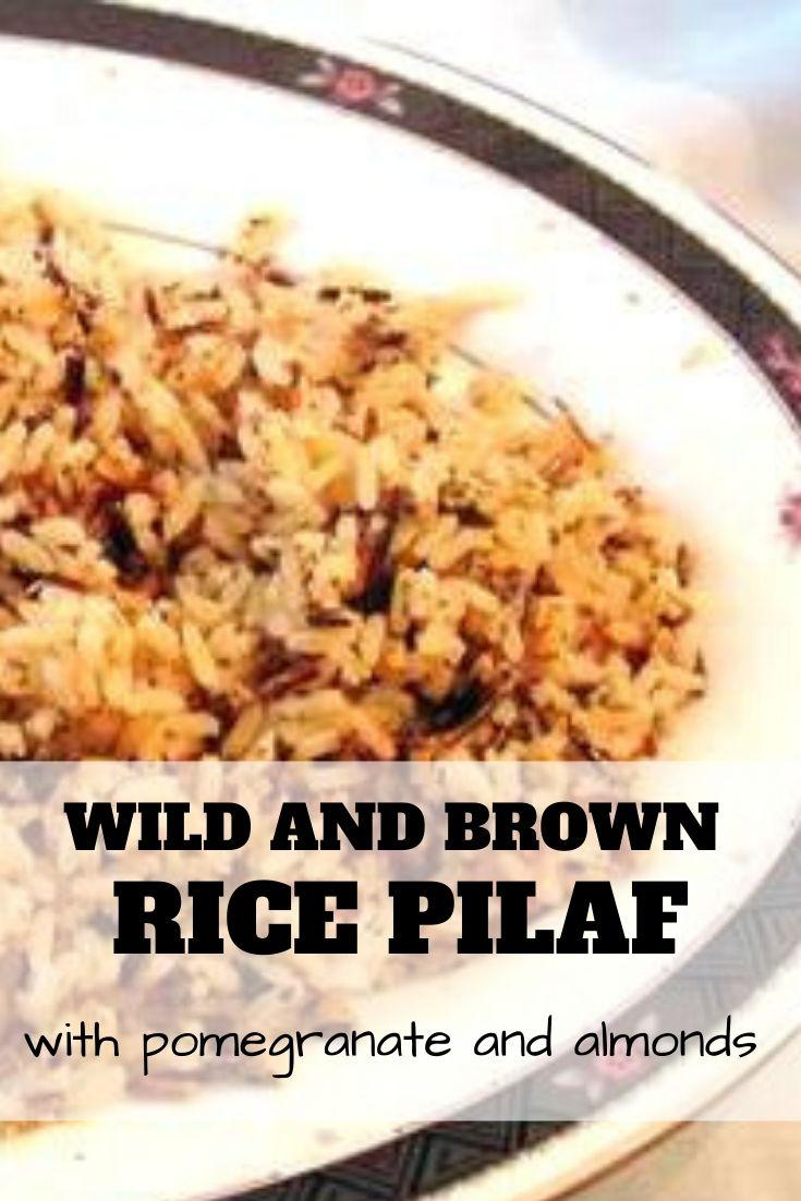 wild and brown rice pilaf pinnable graphic