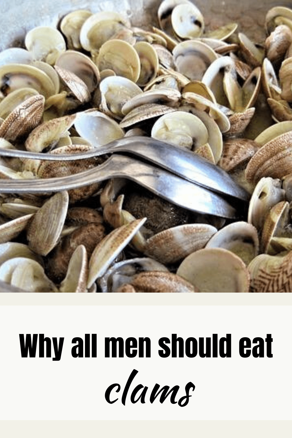 The Health Benefits of Clams pinnable graphic