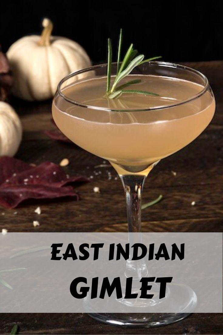 East Indian Gin Gimlet Recipe graphic