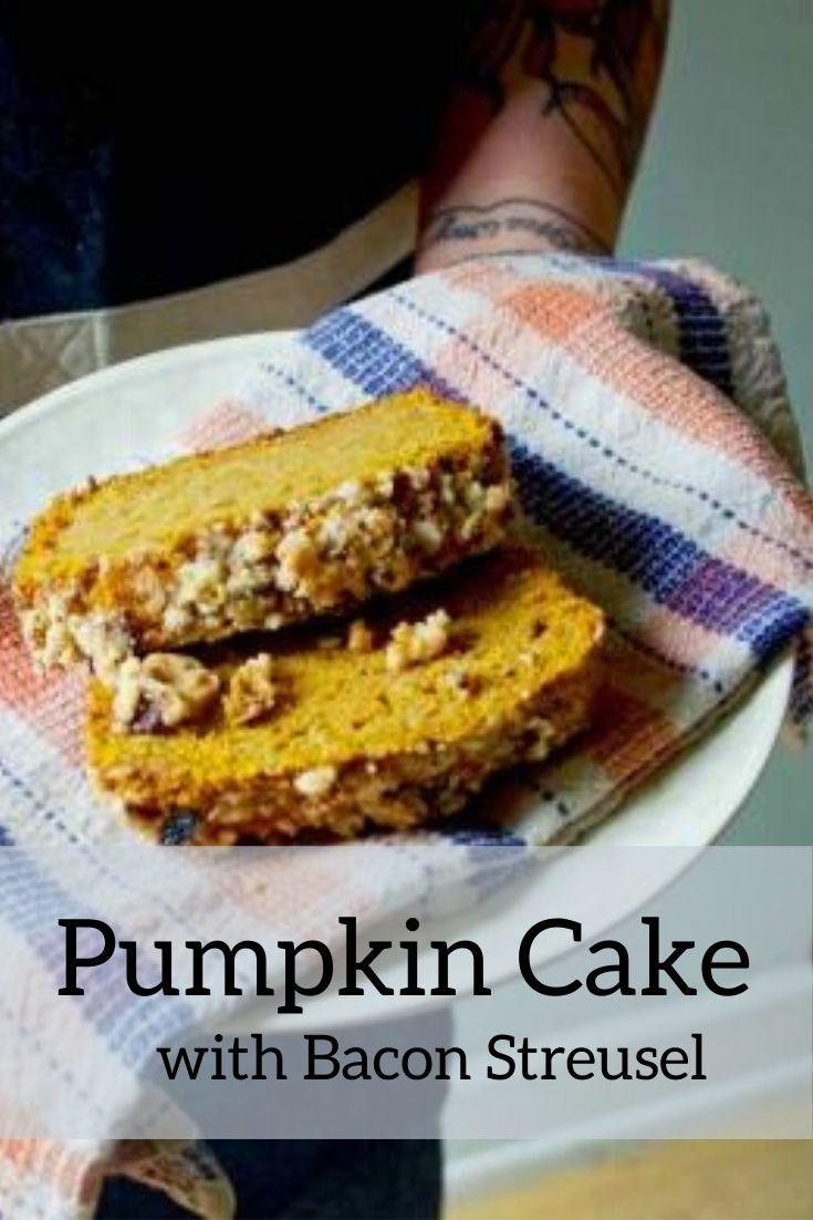 pumpkin cake pinnable graphic