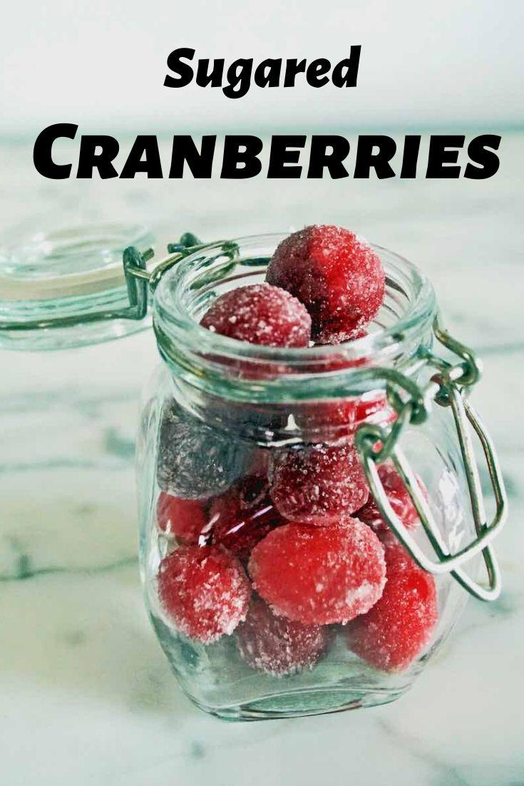 sugared cranberries pinnable graphic