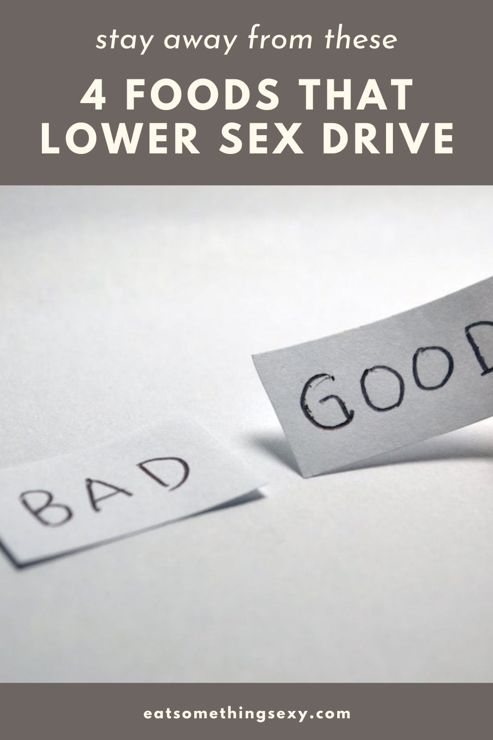 foods that lower sex drive graphic