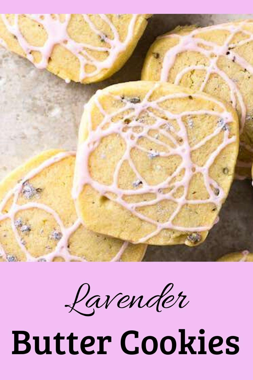 lavender butter cookies pinnable graphic