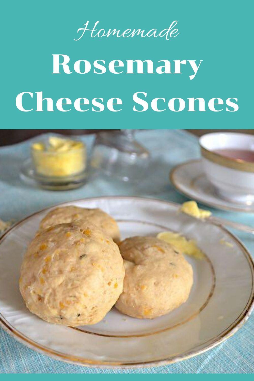 rosemary cheese scones pinnable graphic