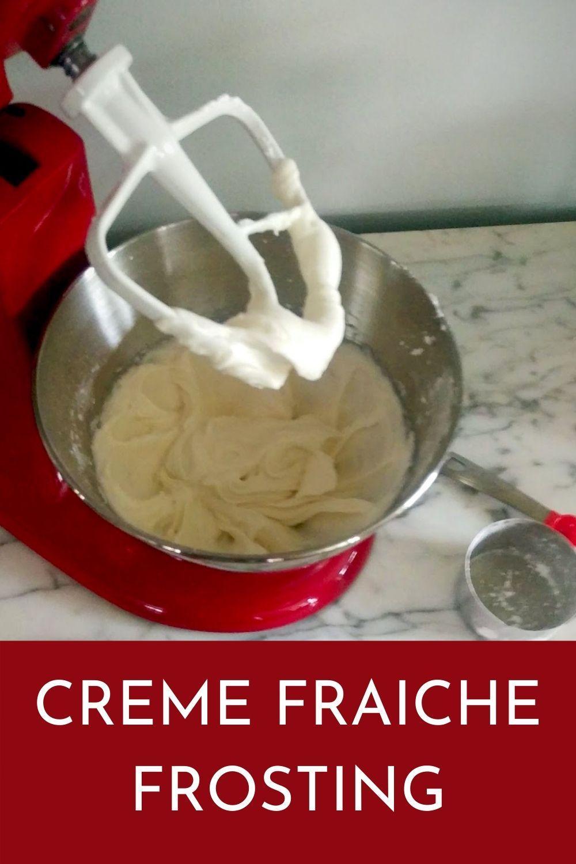 creme fraiche frosting recipe graphic