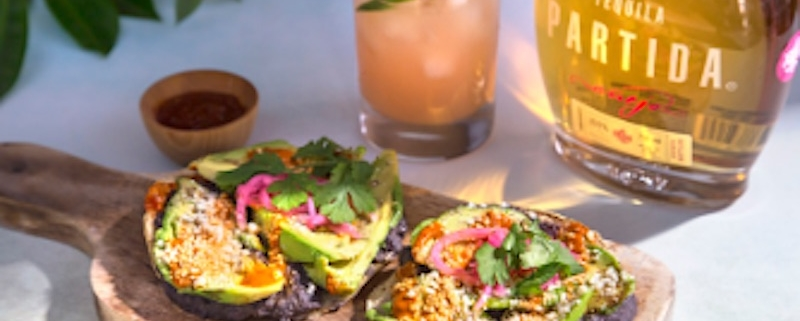 Paloma Spritz Cocktail with Avocado Tostadas