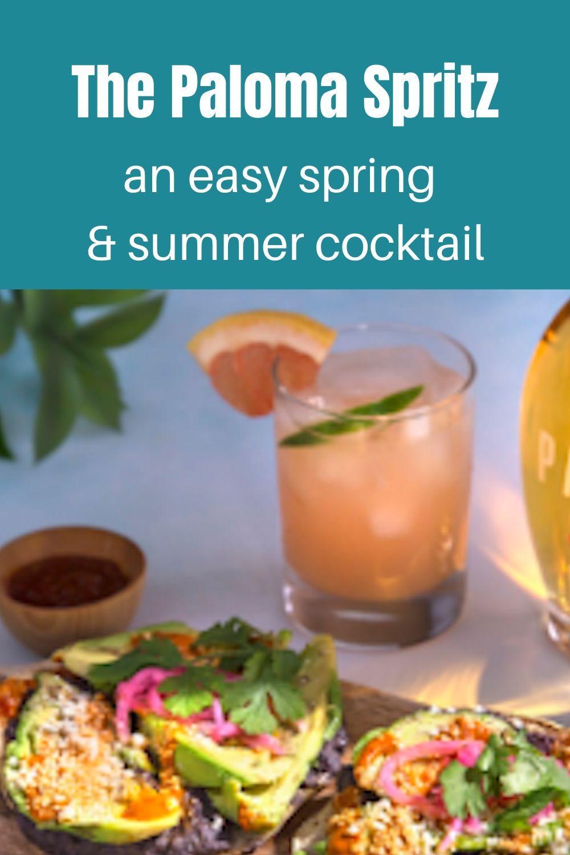 Paloma Spritz - an easy spring & summer cocktail