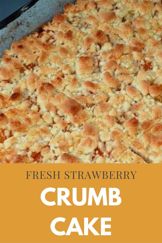 fresh strawberry crumb cake graphic