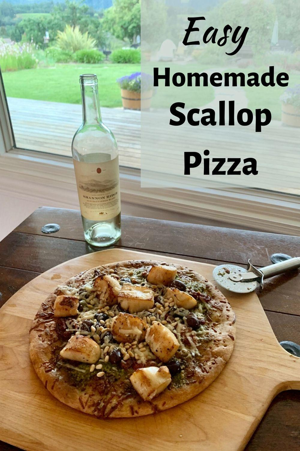 Homemade Scallop Pizza Pinnable Graphic