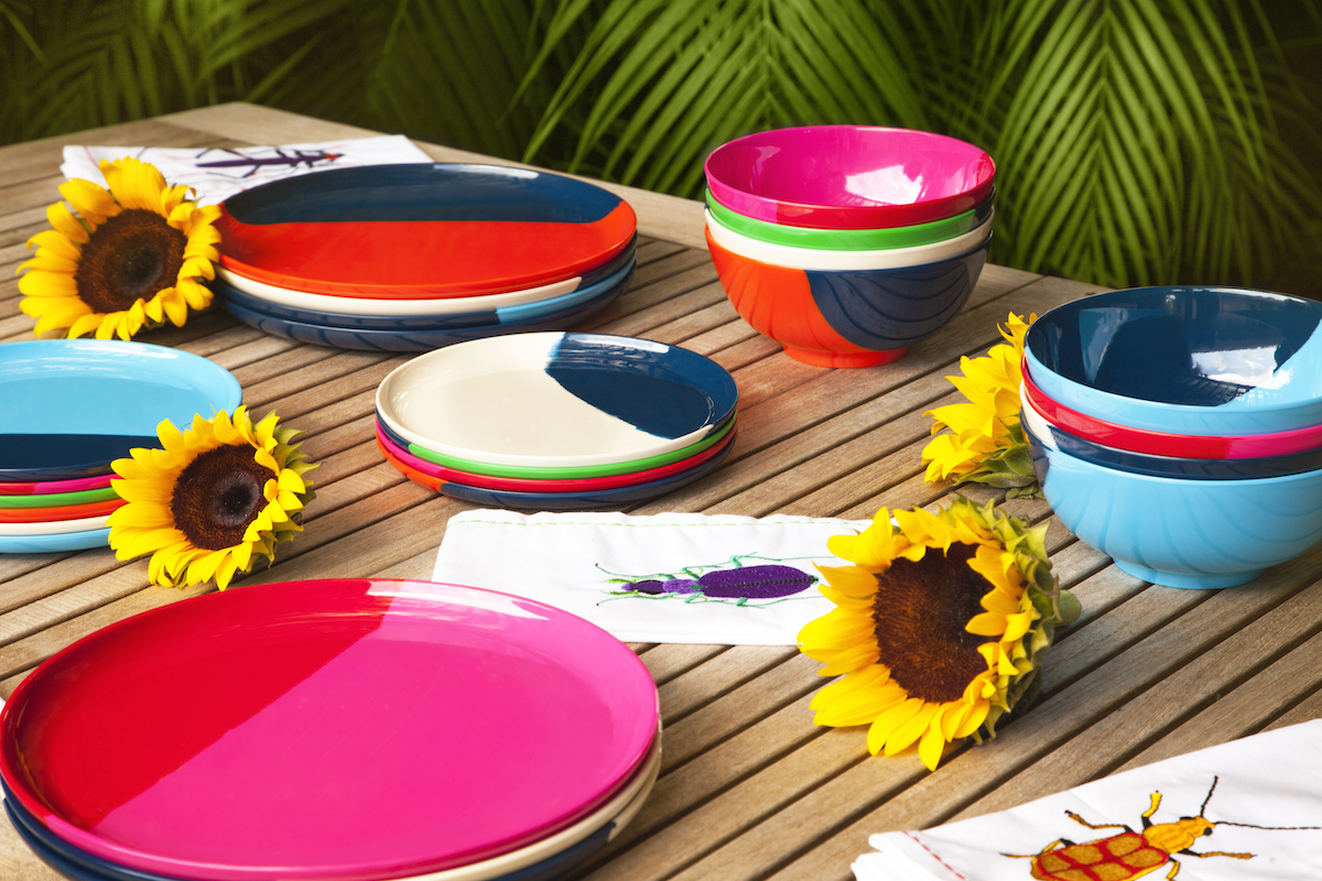 Malamine Dishware Mother's Day table setting