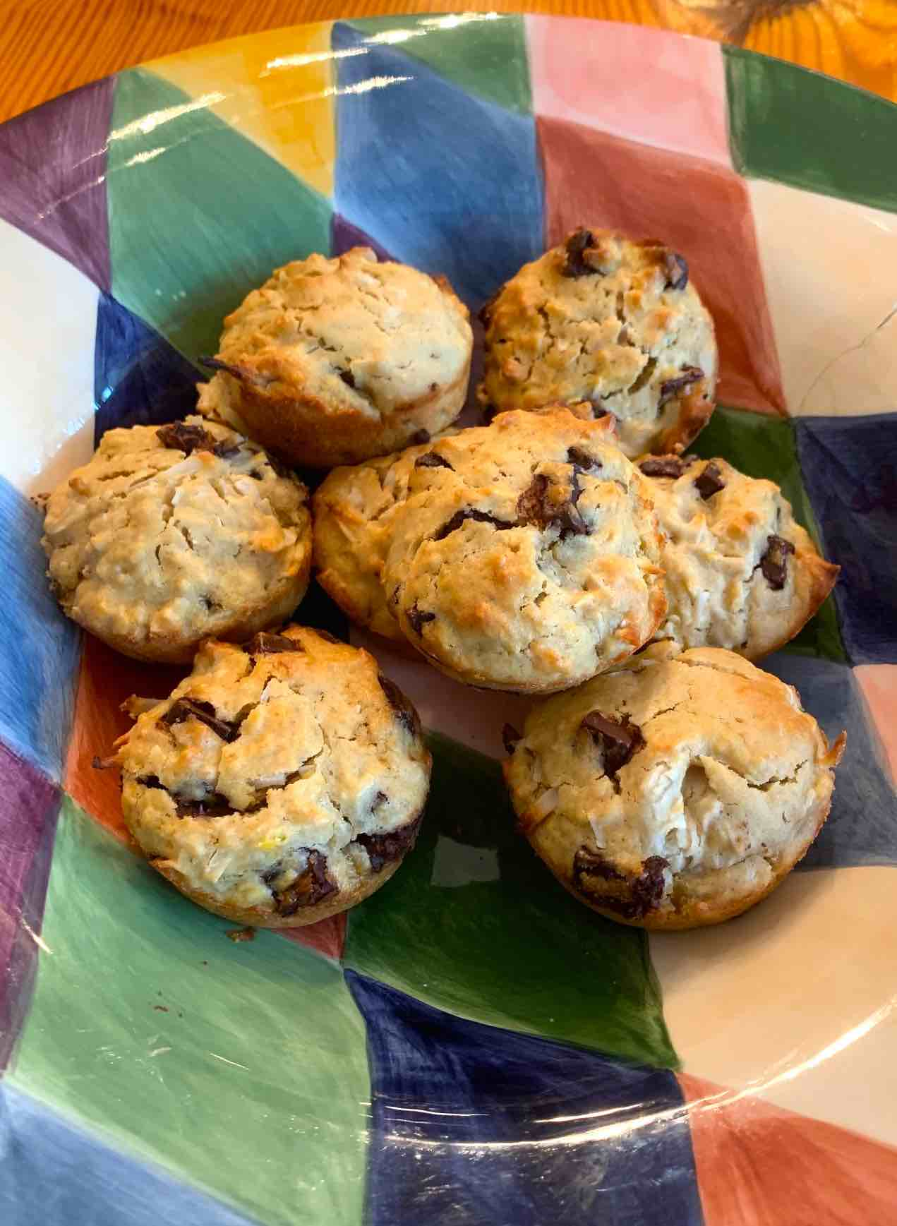 Jamaican Coconut Muffins with Chocolate Chips