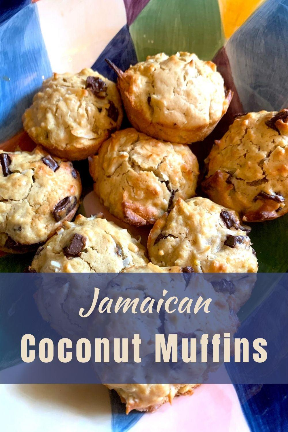 Jamaican Coconut Muffins Pinnable Graphic