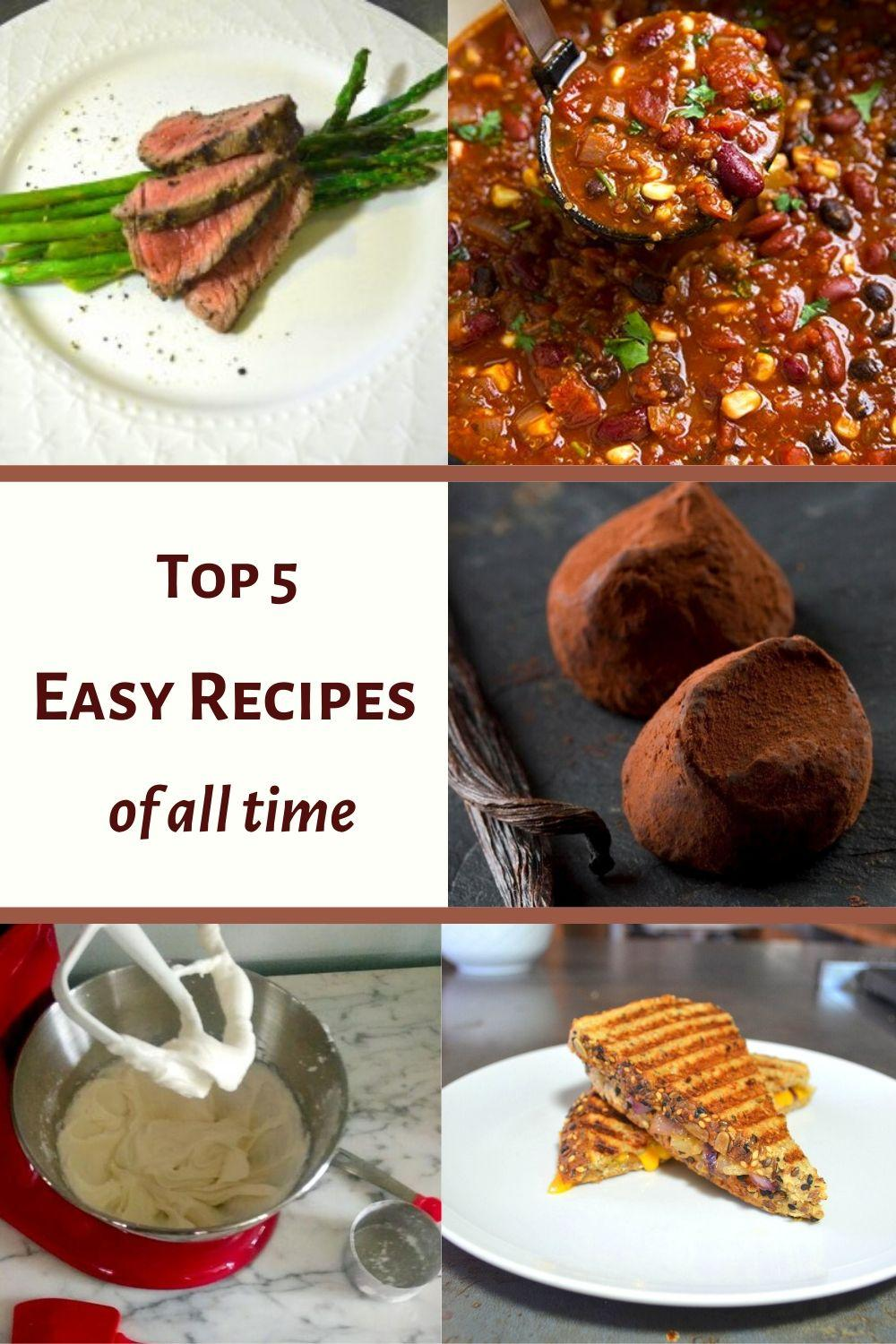 Top 5 Best Recipes of All Time Pinnable Graphic