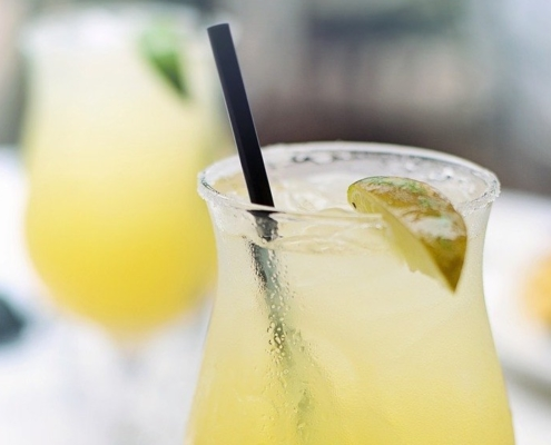 Licor 43 Margarita with a lime wedge