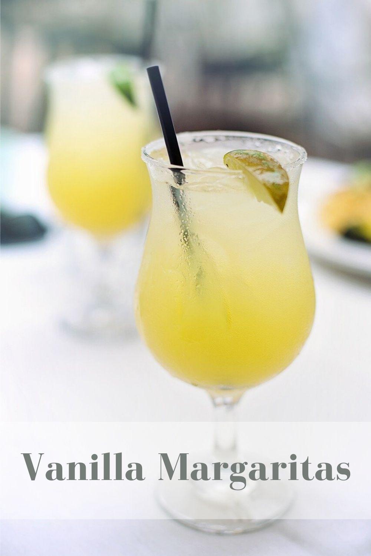 Vanilla Margarita Recipe pinnable graphic
