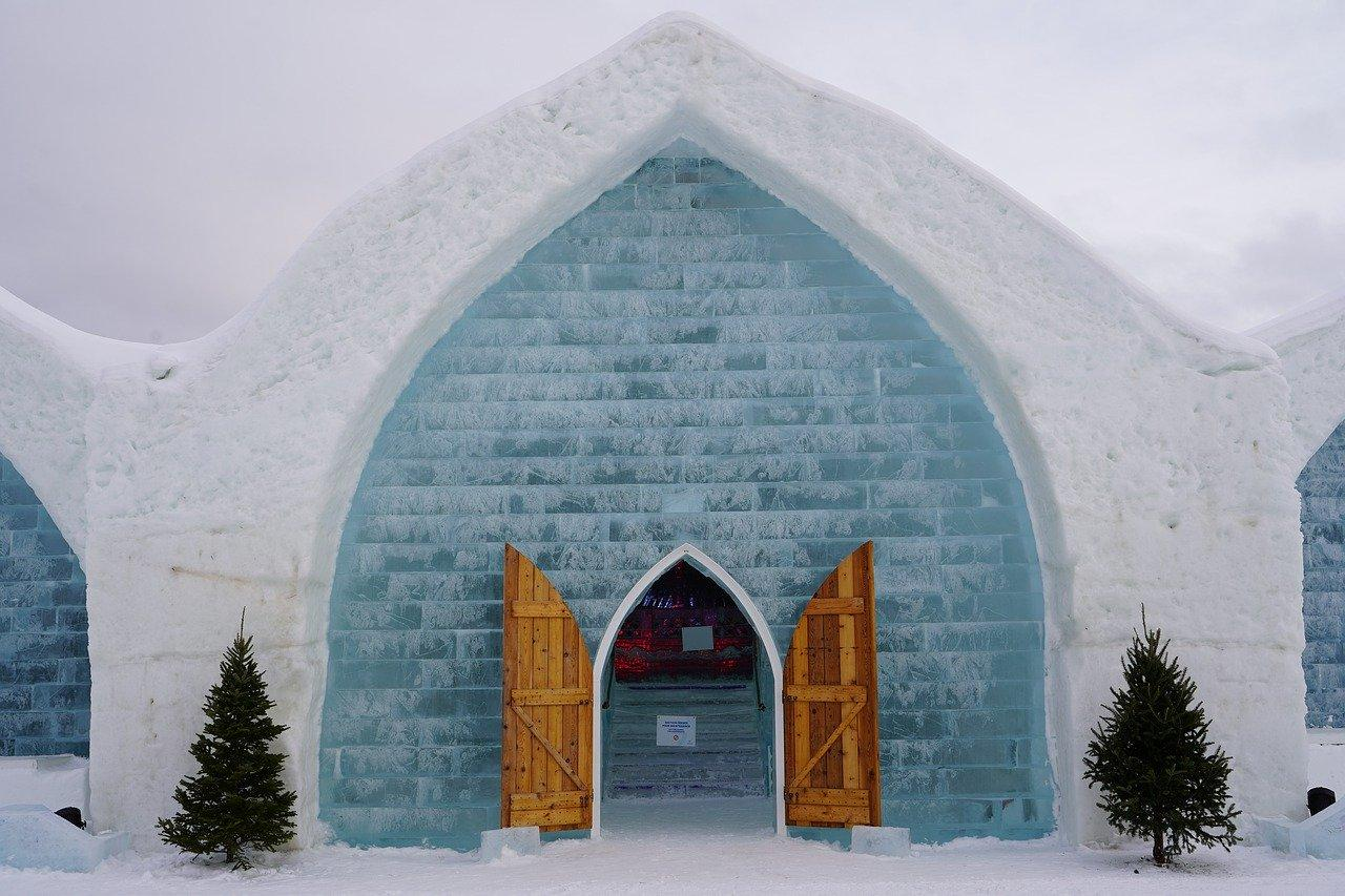 The ice Hotel illustrating one of Quebec's best virtual city tours