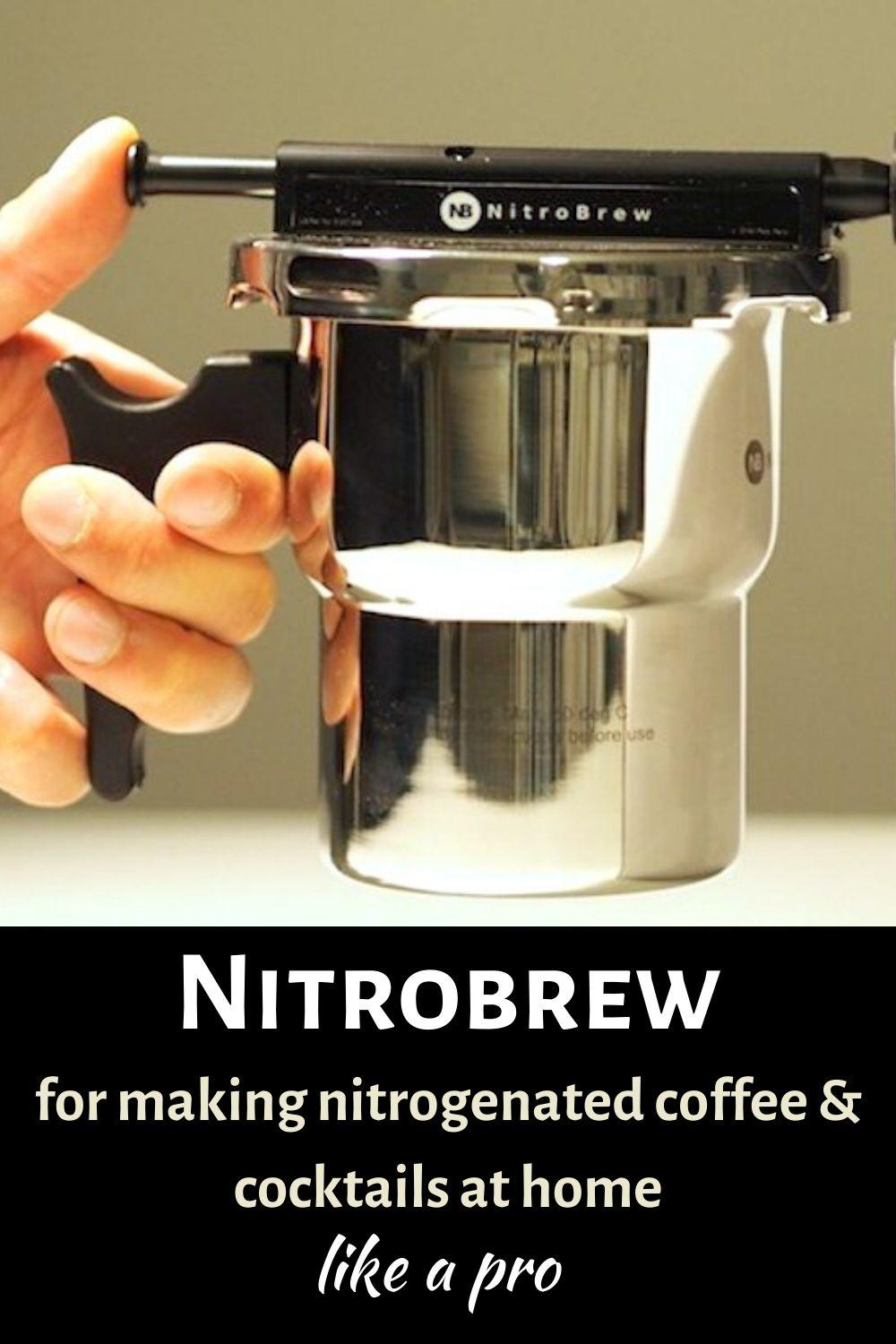Nitrobrew for making nitrogenated coffee and cocktails at home