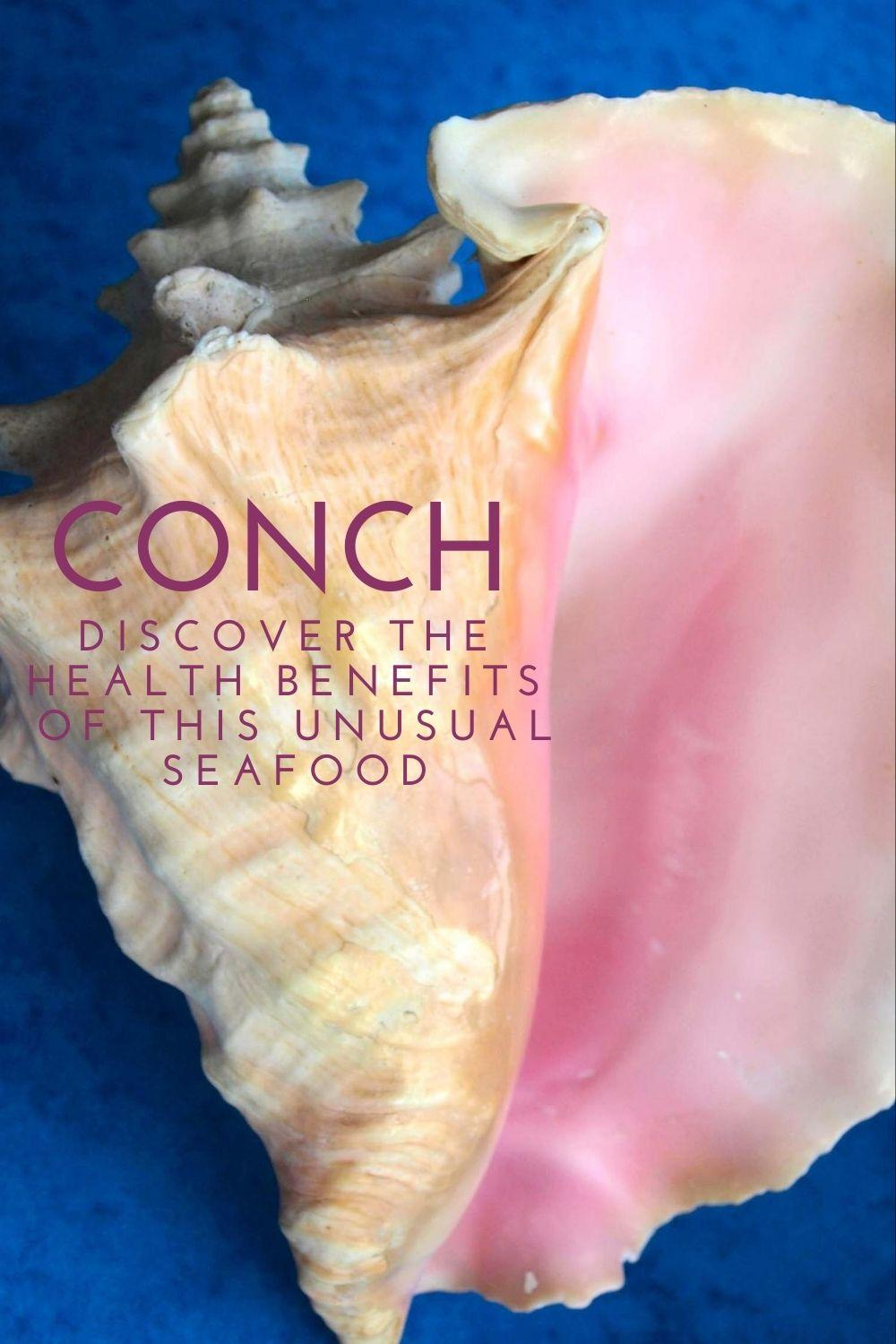 Conch - discover the health benefits of this unusual seafood graphic