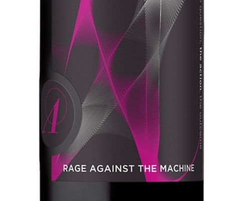 Label from Rage Against the Machine Red Wine Blend
