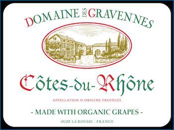 Domaine des Gravennes Côtes-du-Rhône Label