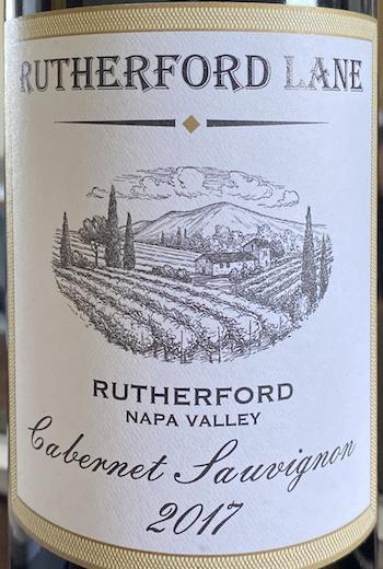 Rutherford Lane Cabernet Label
