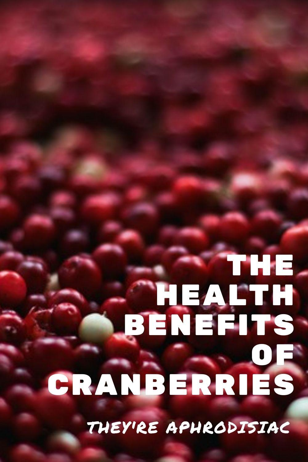 health benefits of cranberry graphic