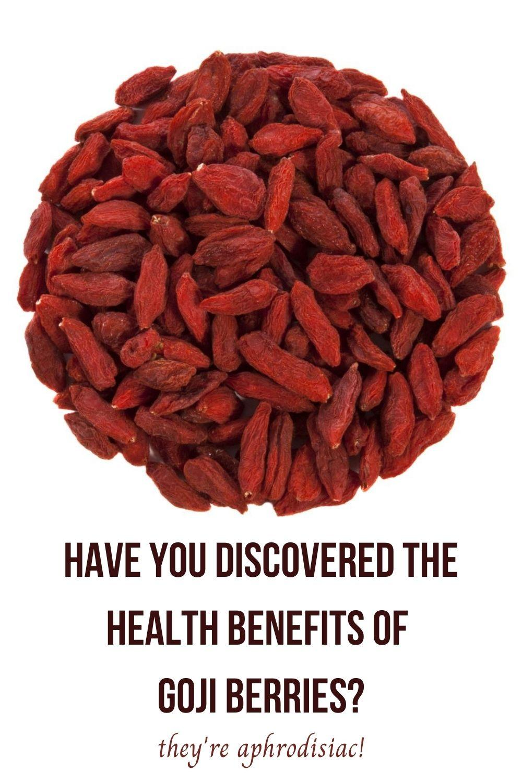 the health benefits of goji berries graphic